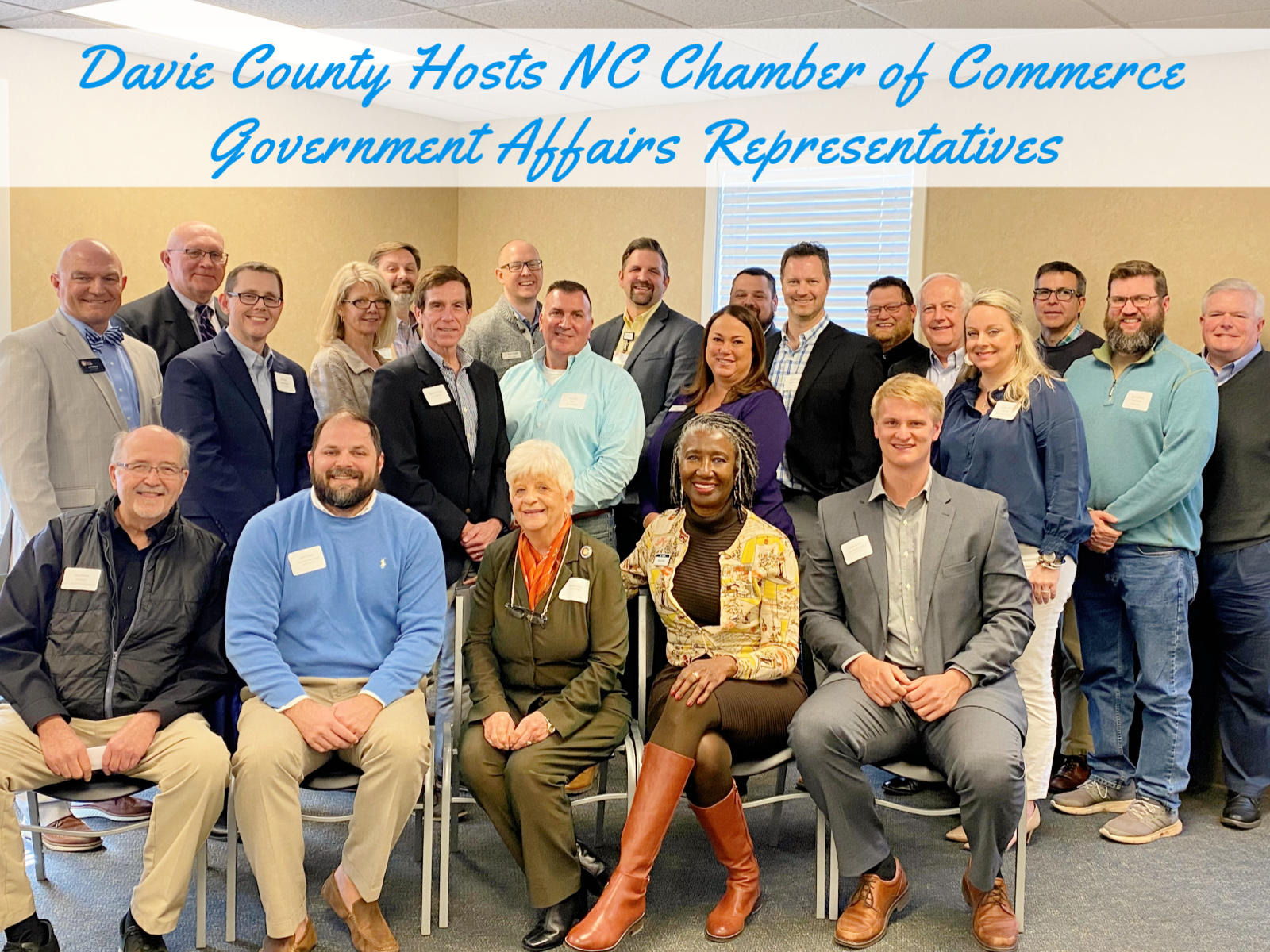 Davie County hosts NC Chamber of Commerce Government Affairs Representatives