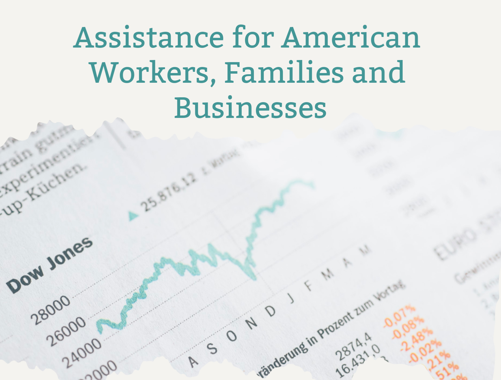 The CARES Act Provides Businesses and Workers With Economic Relief